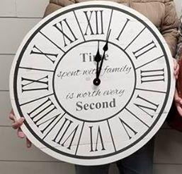 (A-4) Roman Numerals with border insert time spent with family is worth every second