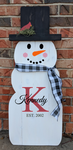 Snowman - Family initial with Last name and est date