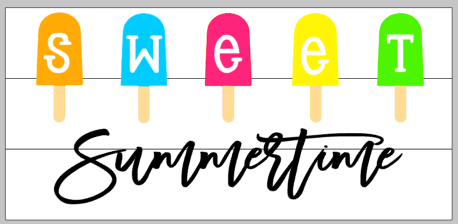 Sweet summertime with popsicles 10.5x22