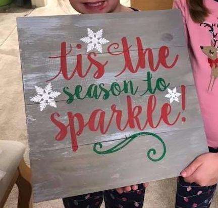 Tis the season to sparkle 14x14