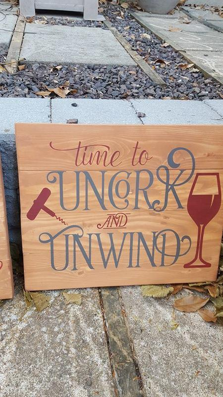 Time to Uncork and Unwind 14x17