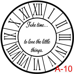 (A-10) Roman Numerals with border insert take time to enjoy the little things