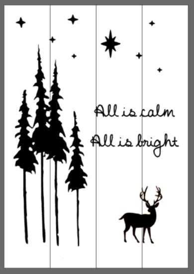 All is calm all is bright 14x20