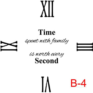 (B-04) Roman Numerals 12,3,6,9 insert time spent with family is worth every second