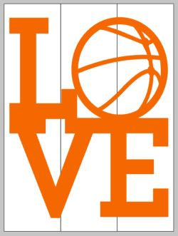 Basketball Love 14x17