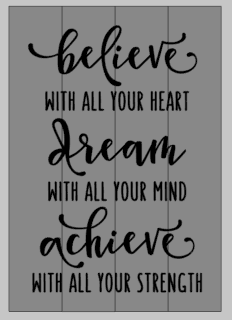 Believe with all your heart 14x20