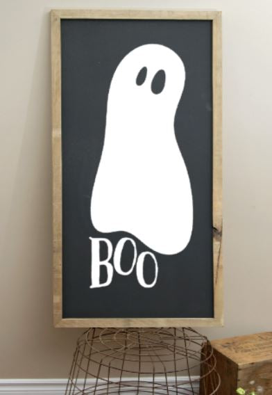 boo with ghost 10.5x22