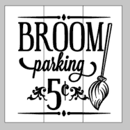 Broom parking 5 cents 14x14