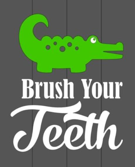 Brush your teeth 10.5x14