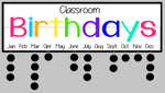 Celebration- Classroom birthdays 7x24 w/frame & tags