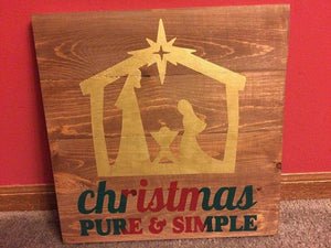 Christmas pure and simple 14x14