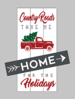 Country roads and Farmers Market Reversible 10.5x22