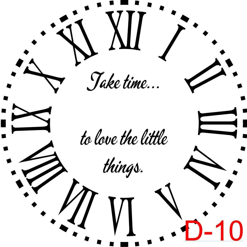 (D-10) Roman Numerals with Dotted Border insert take time to love the little things