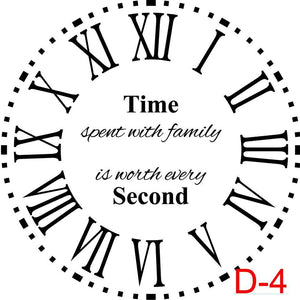 (D-4) Roman Numerals with Dotted Border insert time spent with family is worth every second