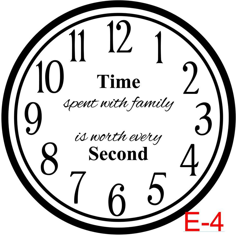 (E-4) Numbers with Circle border insert time spent with family is worth every second