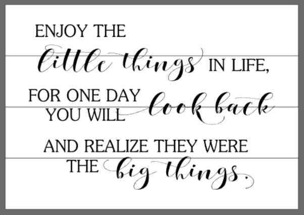 Enjoy the little things with fancy script font 14x20