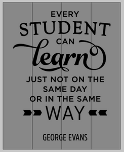 Image result for every student can learn just not on the same day or in the same way