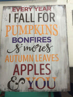 Every year I fall for pumpkins 14x20