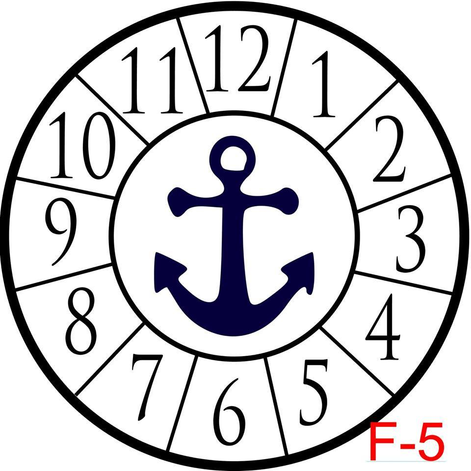(F-5) Numbers with border insert anchor