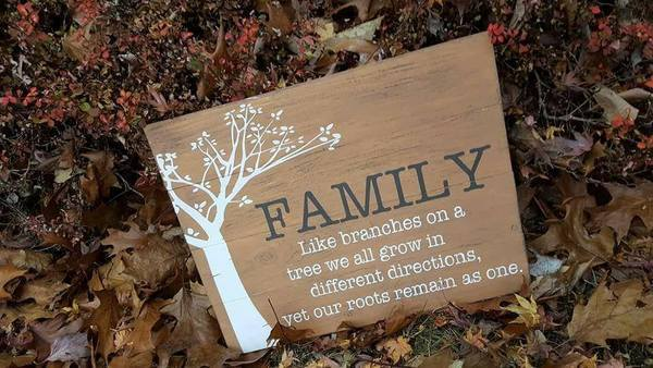 Family is like branches 14x17
