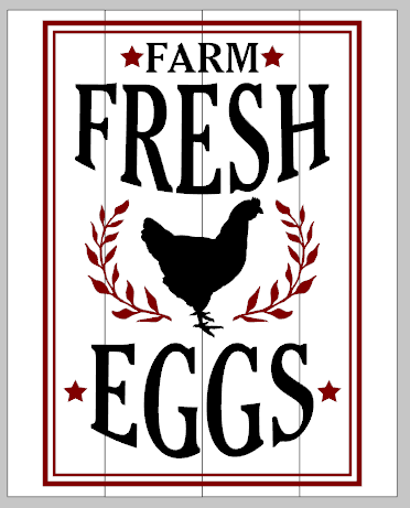Farm Fresh Eggs 10.5x14