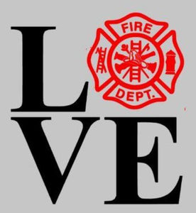 LOVE fire department 10.5x14