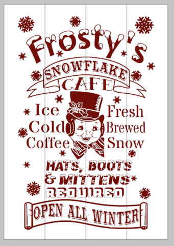 Frosty's snowflake cafe 14x20