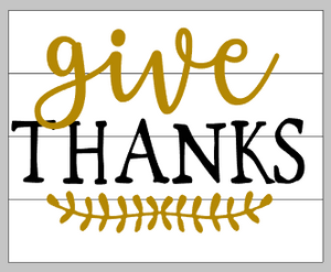 Give thanks with leafy design 10.5x14