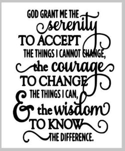 Serenity Prayer (God Grant me the serenity) 14x17