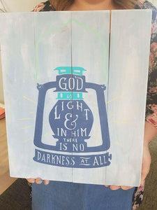 God is light 14x17