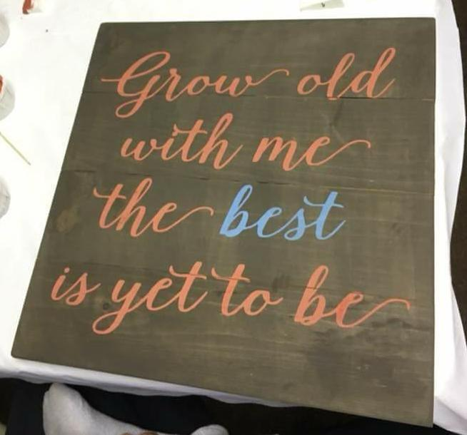 Grow old with me the best is yet to be 14x14