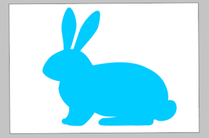 Spring Tiles - rabbit sideways