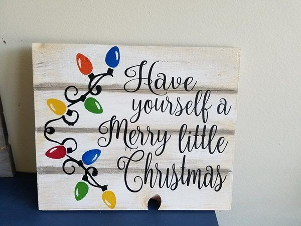 Have yourself a merry little Christmas-Lights 14x17