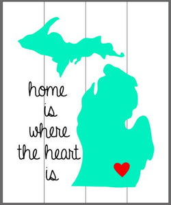 Home is where the heart is 14x17