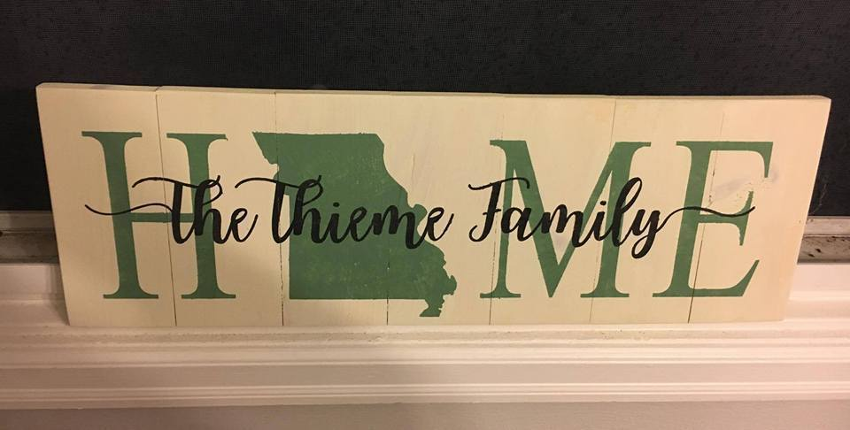Home with state and family name