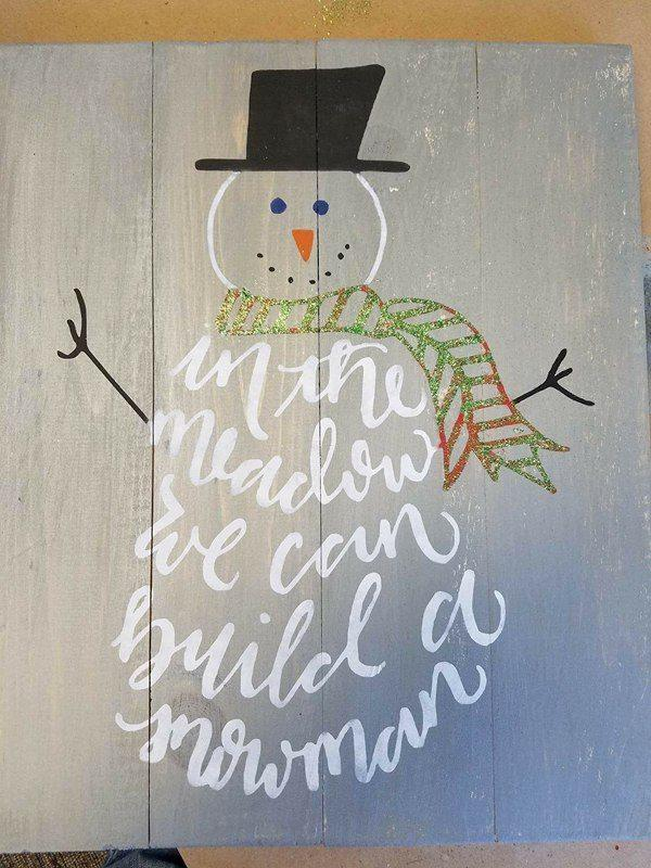 Snowman body words-In the meadow we will build a snowman 14x17