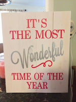 Its the most wonderful time of the year vertical 14x17