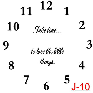 (J-10) Numbers insert take the time to love the little things