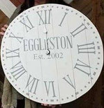 (D-3) Roman Numerals with Dotted Border insert last name in caps with est date
