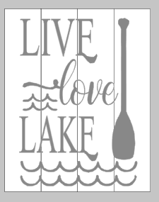 Live love lake with paddle 10.5x14