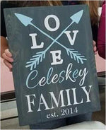 Family established love with arrows 14x20
