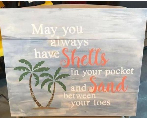 May you always have shells in your pocket 14x17