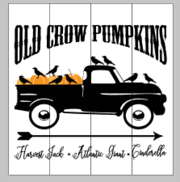 Old Crow Pumpkins 14x14
