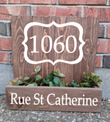 14x14 Planter Box - Address