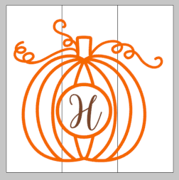 Pumpkin with letter