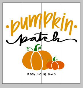 pumpkin patch pick your own 14x14