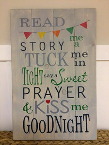 Read me a story tuck me in at night 14x20