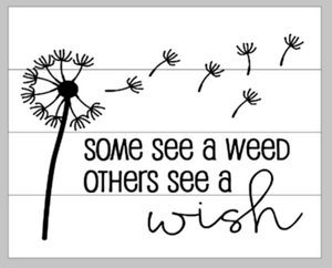 Some see a weed others see a wish with dandelion 14x17