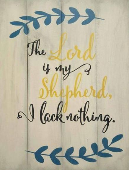 The Lord is my Shepherd 10.5x14