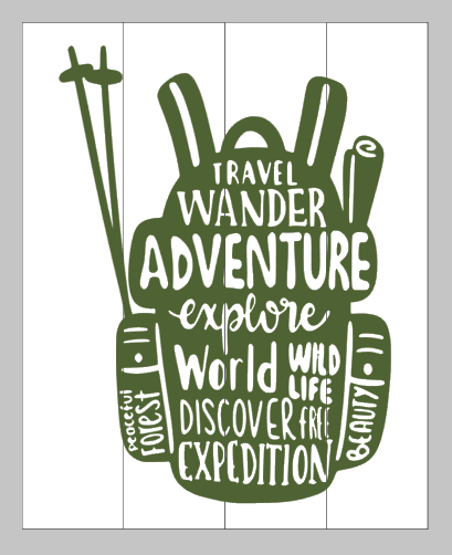Travel wander adventure 14x17